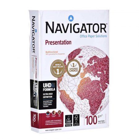 akcesoria biurowe 7 alibiuro.pl Papier Xero Igepa Navigator Presentation 82437A10 A4 100g m2 500 szt. Satynowy 96