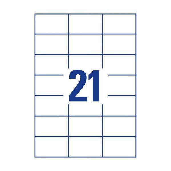 akcesoria biurowe 7 alibiuro.pl Zestaw etykiet uniwersalne Do nadruku AVERY Zweckform 3652 10 70mm x 42.3mm Papier kolor biay 74