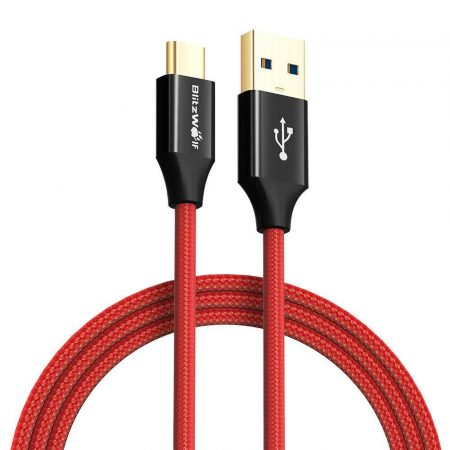 akcesoria komputerowe 7 alibiuro.pl Kabel BlitzWolf AMPCORE BW TC10 USB 2.0 USB typu C 1 8m kolor czerwony 81