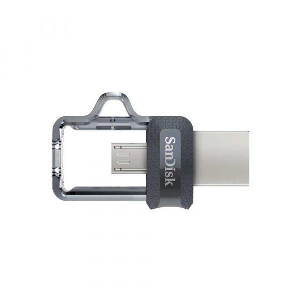 akcesoria komputerowe 7 alibiuro.pl Pendrive SanDisk SDDD3 256G G46 256GB microUSB USB 3.0 kolor szary 90