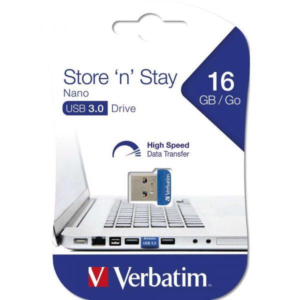 akcesoria komputerowe 7 alibiuro.pl VERBATIM PENDRIVE 16GB NANO STORE USB 3.0 98709 23