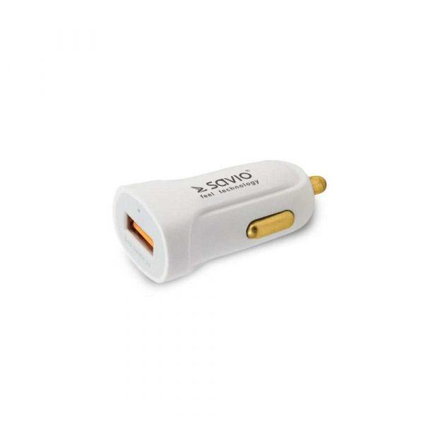 akcesoria samochodowe 7 alibiuro.pl adowarka samochodowa do smartfona SAVIO Quick Charge 3.0 SA 05 W 3000 mA USB 40