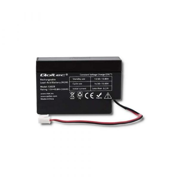 akumulatory 7 alibiuro.pl QOLTEC AKUMULATOR AGM 12V 0.8AH MAX.12A 18