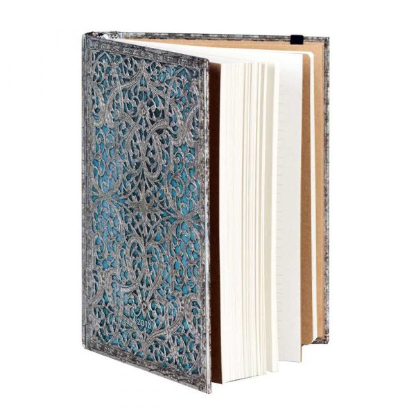 artykuły biurowe 7 alibiuro.pl Kalendarz paperblanks 2018 Maya Blue Midi kolor niebieski 69