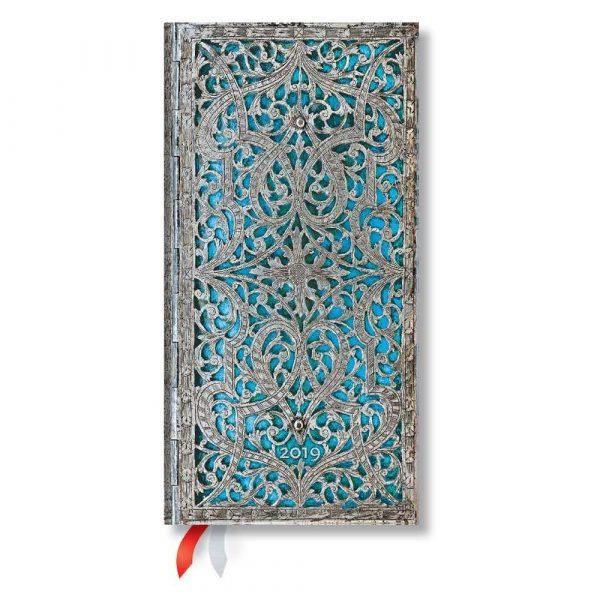 artykuły biurowe 7 alibiuro.pl Kalendarz paperblanks 2019 MayaBlue Slim kolor szarobkitny 54