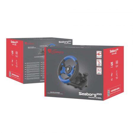 artykuły biurowe 7 alibiuro.pl Kierownica NATEC Genesis Seaborg 350 NGK 1566 NS PC PS3 PS4 Xbox 360 Xbox One 33