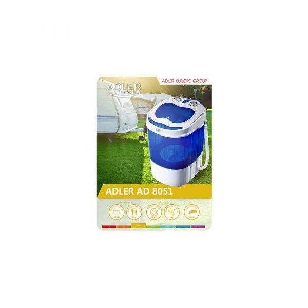 artykuły biurowe 7 alibiuro.pl Pralka turystyczna Adler AD 8051 1000 obr min 3 kg 370 mm kolor niebieski 90