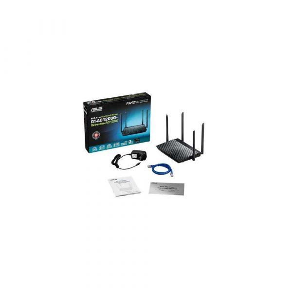 artykuły biurowe 7 alibiuro.pl Router bezprzewodowy ASUS RT AC1200G xDSL 2 4 GHz 5 GHz 56