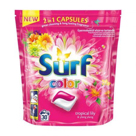 artykuły biurowe 7 alibiuro.pl SURF Kapsuki d prania Tropikalna Lilia Kolor 30szt 95