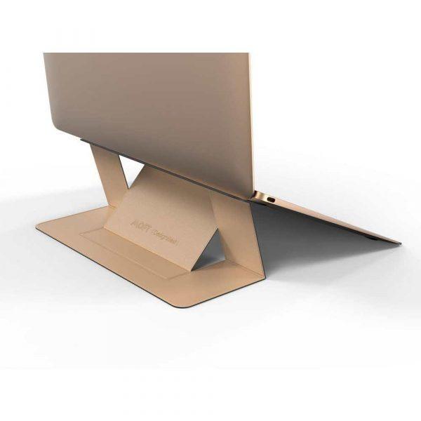 artykuły biurowe 7 alibiuro.pl Stojak do laptopa Allocacoc MOFT Laptop Stand GOLD 56