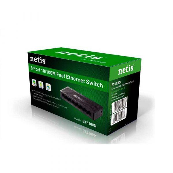 artykuły biurowe 7 alibiuro.pl Switch NETIS ST3108S 8x 10 100Mbps 61