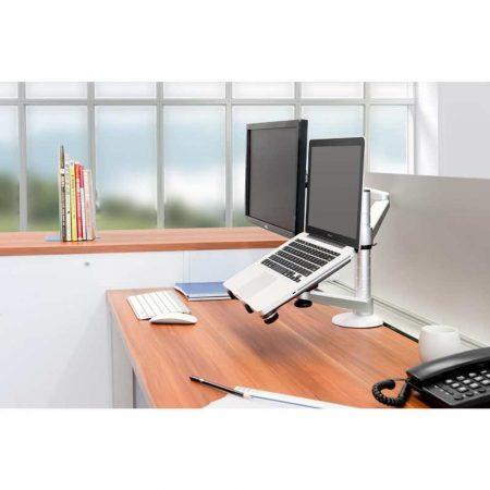 artykuły biurowe 7 alibiuro.pl Uchwyt biurkowy do laptopa i monitora NEWSTAR FPMA D300NOTEBOOK biurkowy Obrotowy Uchylny max. 10kg 55