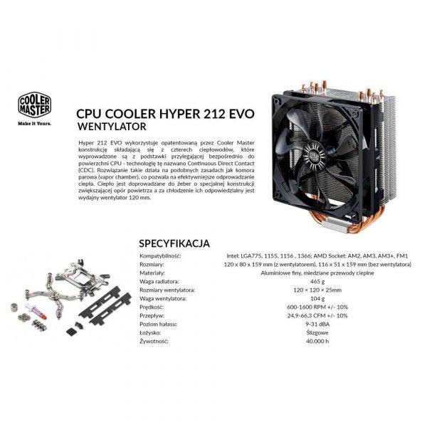 artykuły biurowe 7 alibiuro.pl Wentylator Cooler Master Hyper RR 212E 16PK R1 AM2 AM2 AM3 AM3 FM1 LGA 1155 LGA 1156 LGA 1366 LGA 775 99