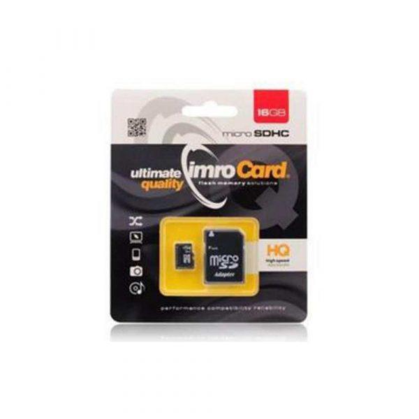 artykuły biurowe 7 alibiuro.pl Zestaw kart pamici IMRO 10 16G UHS I ADP 16GB Class U1 adapter 92