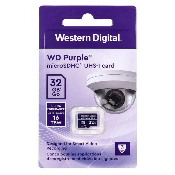 artykuły dla biura 7 alibiuro.pl Karta pamici WD Purple microSDXC WDD032G1P0C 32GB Class 10 Class U1 34