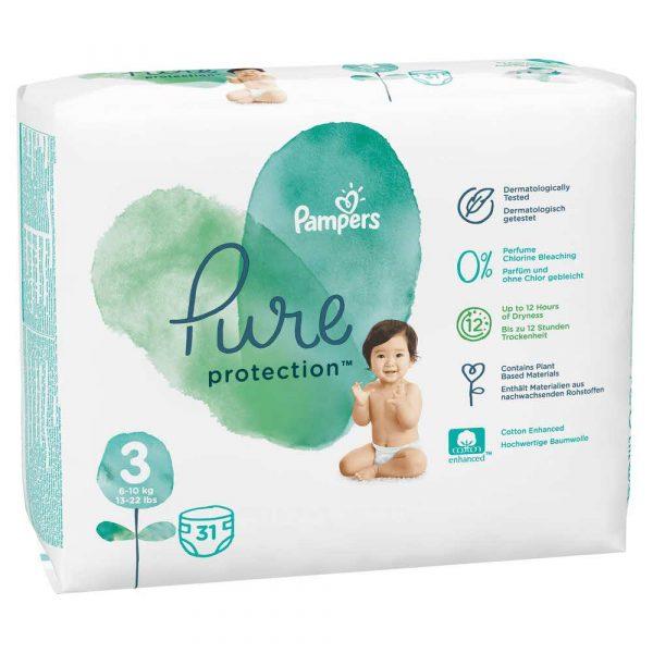 artykuły dla biura 7 alibiuro.pl Pampers Pure Protect Pieluchy Rozmiar 3 6 10kg 31szt 67