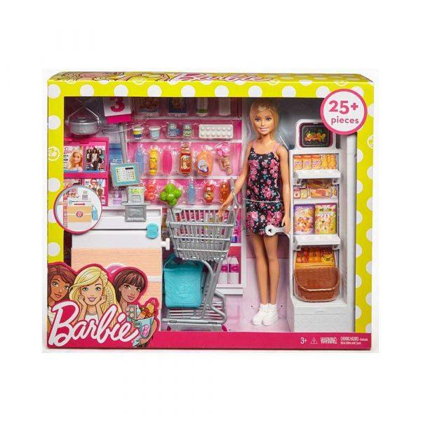 artykuły dla biura 7 alibiuro.pl Zestaw zabawek Barbie supermarket lalka MATTEL FRP01 Od 3 lat 17