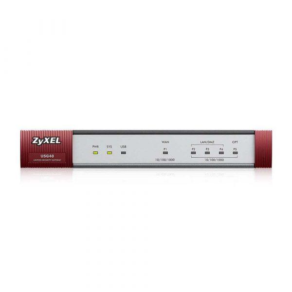 elektronika 7 alibiuro.pl Firewall ZyXEL USG40 EU0102F 4x 10 100 1000Mbps 18
