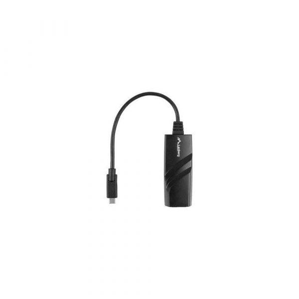 elektronika 7 alibiuro.pl Karta sieciowa Lanberg NC 1000 02 USB 3.1 USB C 1x 10 100 1000Mbps 64