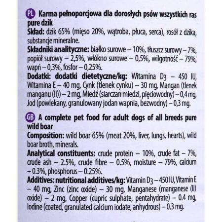 karma dla zwierząt 7 alibiuro.pl Dolina Noteci Pure Dzik 800g 10