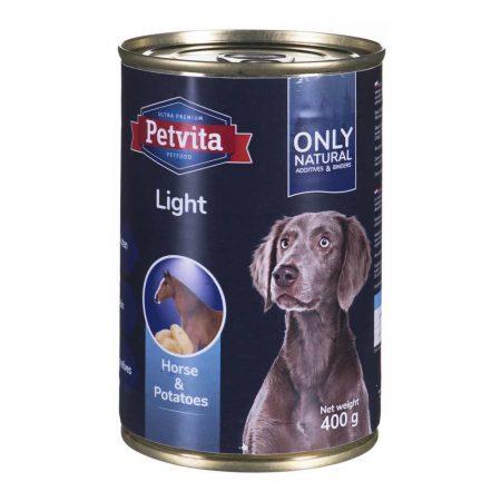karma dla zwierząt 7 alibiuro.pl PETVITA Light Konina z ziemniakami puszka 400g 47