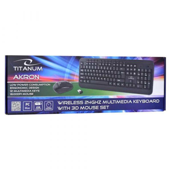 klawiaturowe zestawy z myszą 7 alibiuro.pl Zestaw klawiatura mysz TITANUM AKRON TK109 USB 2.0 kolor czarny optyczna 1600 DPI 19