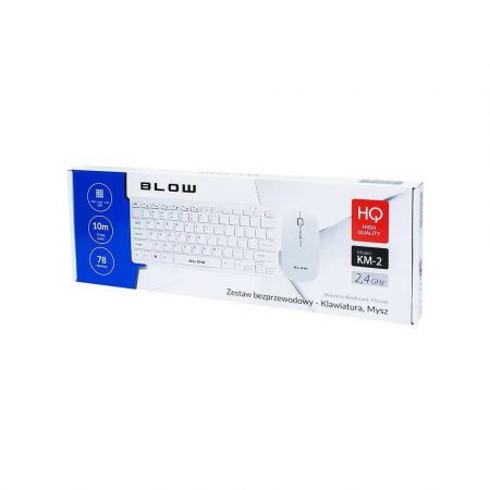 klawiatury i myszy 7 alibiuro.pl Zestaw klawiatura mysz membranowa BLOW 85 466 kolor biay optyczna 35