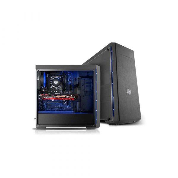 komputery 7 alibiuro.pl Obudowa Cooler Master Masterbox MB600L Blue MCB B600L KA5N S01 ATX Micro ATX Mini ATX kolor czarny 60