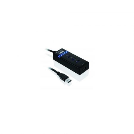 koncentrator usb 7 alibiuro.pl Hub IBOX USB 3.0 CZARNY 4 PORTY IUH3FB 4x USB 3.0 kolor czarny 36