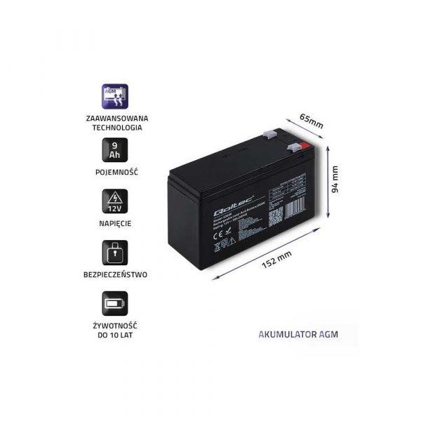 materiały biurowe 7 alibiuro.pl Akumulator elowy Qoltec 53031 3