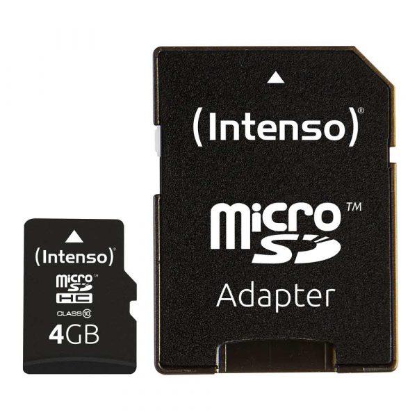 materiały biurowe 7 alibiuro.pl Karta pamici INTENSO 3413450 4GB Class 10 Adapter 60