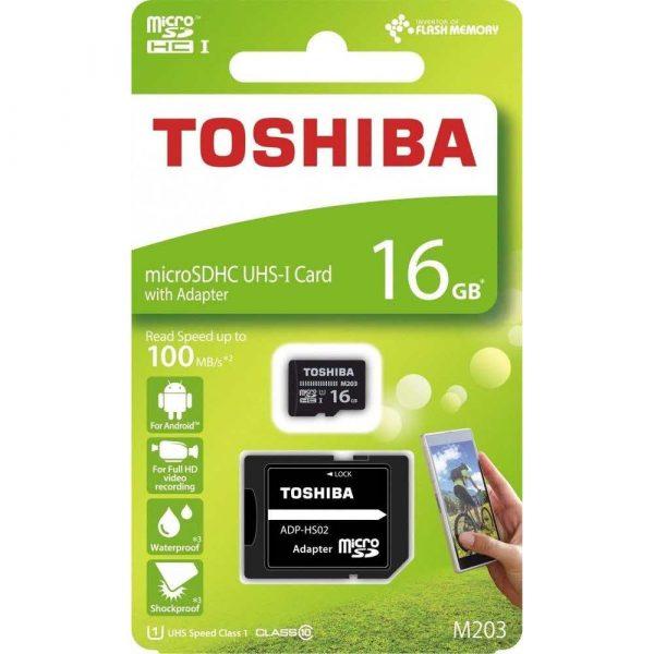 materiały biurowe 7 alibiuro.pl Karta pamici Toshiba M203 THN M203K0160EA 16GB Class 10 Adapter 10