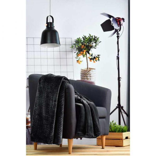 materiały biurowe 7 alibiuro.pl Koc Tuckano DABY Czer DABY Czer 150 x 200 cm kolor czarny 63