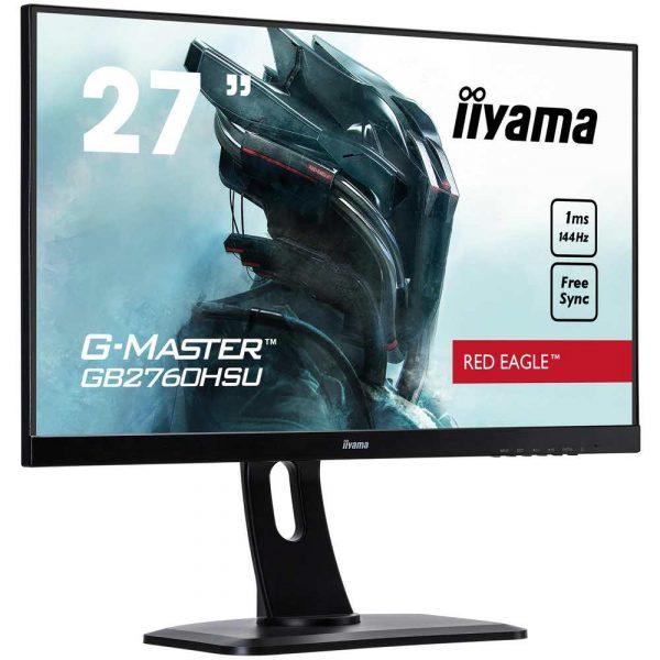 materiały biurowe 7 alibiuro.pl Monitor IIYAMA G Master Red Eagle GB2760HSU B1 27 Inch TN FullHD 1920x1080 DisplayPort HDMI kolor czarny 1