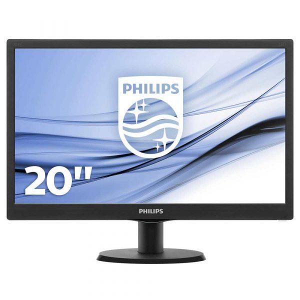 materiały biurowe 7 alibiuro.pl Monitor Philips 203V5LSB26 10 19 5 Inch TN 1600x900 VGA kolor czarny 61