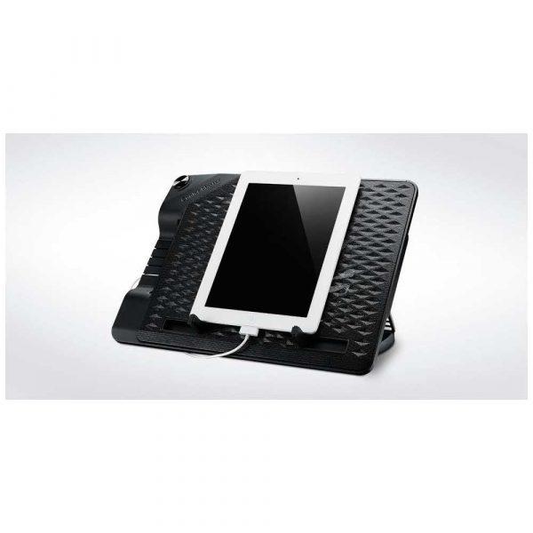 materiały biurowe 7 alibiuro.pl Podstawka chodzca pod laptop Cooler Master Notepal Ergostand III R9 NBS E32K GP 17.x cala 1 wentylator HUB 35