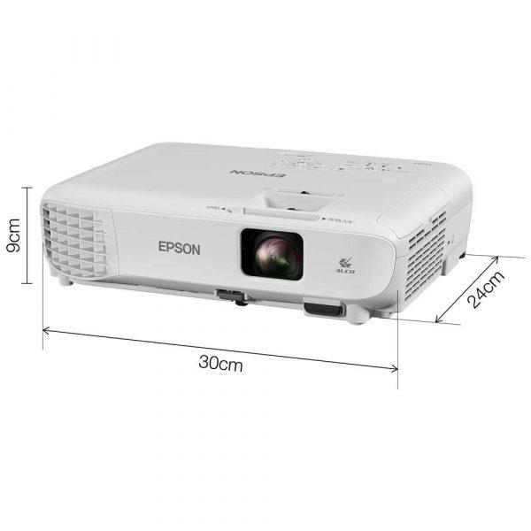 materiały biurowe 7 alibiuro.pl Projektor Epson EB S05 V11H838040 3LCD SVGA 800x600 3200 ANSI 15000 1 59