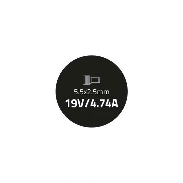 materiały biurowe 7 alibiuro.pl Zasilacz Qoltec 50071.90W do notebooka Asus 19 V 4 74 A 90W 5.5 mm x 2.5 mm 83