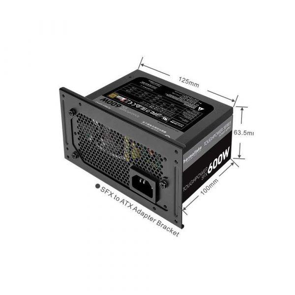 materiały biurowe 7 alibiuro.pl Zasilacz Thermaltake SFX 600W PS STP 0600FPCGEU G 600 W Aktywne 80 mm 29