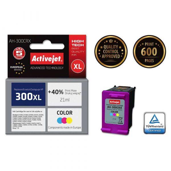 materiały eksploatacyjne 7 alibiuro.pl Tusz Activejet AH 300CRX zamiennik HP 300XL CC644EE Premium 21 ml kolor 52