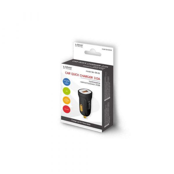 motoryzacja 7 alibiuro.pl adowarka samochodowa do smartfona SAVIO Quick Charge 3.0 SA 05 B 3000 mA USB 6