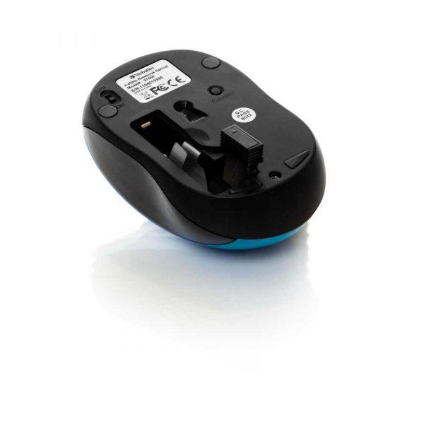 myszy komputerowe 7 alibiuro.pl Mysz Verbatim Go Nano 49044 optyczna 1600 DPI kolor niebieski 87