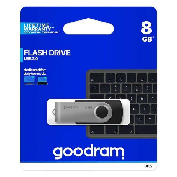 nośniki danych 7 alibiuro.pl Pendrive GoodRam Twister UTS2 0080K0R11 8GB USB 2.0 kolor czarny 4