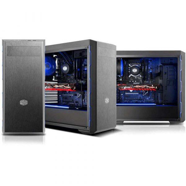 obudowy komputerowe 7 alibiuro.pl Obudowa Cooler Master Masterbox MB600L Blue MCB B600L KA5N S01 ATX Micro ATX Mini ATX kolor czarny 18