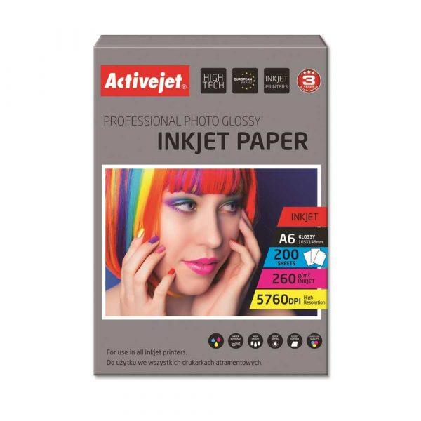 papier fotograficzny 7 alibiuro.pl Papier fotograficzny Activejet AP6 260GR200 A6 200 szt. 47