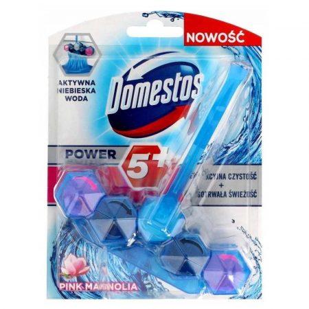 preparaty do czyszczenia toalet 7 alibiuro.pl Domestos Power 5 Niebieska Woda Kostka WC Pink 53g 36