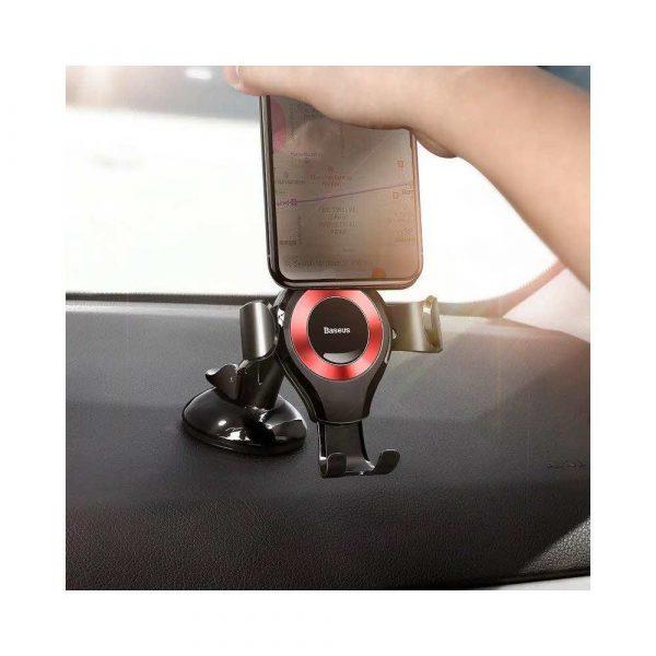 prezentacja multimedialna 7 alibiuro.pl Uchwyt samochodowy do smartfona Baseus SUYL XP09 kolor czarno czerwony 58