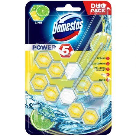 środki czystości 7 alibiuro.pl DOMESTOS Power 5 Kostka zapachowa do WC Lime 2x55g 90