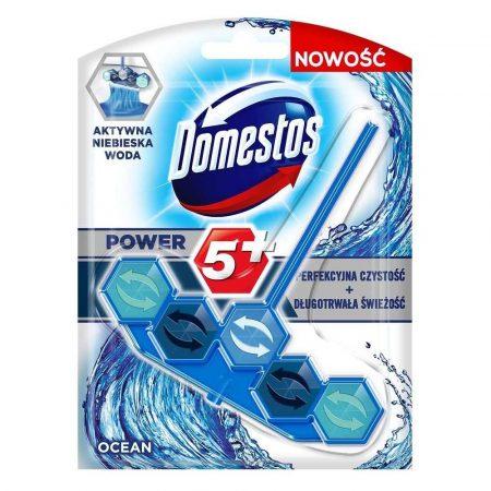 środki czystości 7 alibiuro.pl Domestos Power5 Niebieska Woda Kostka WC Ocean 53g 66