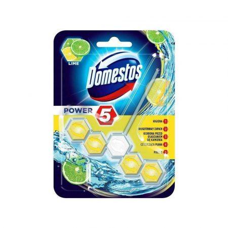 środki czystości i higiena 7 alibiuro.pl DOMESTOS Power 5 Kostka zapachowa do WC Lime 55g 23